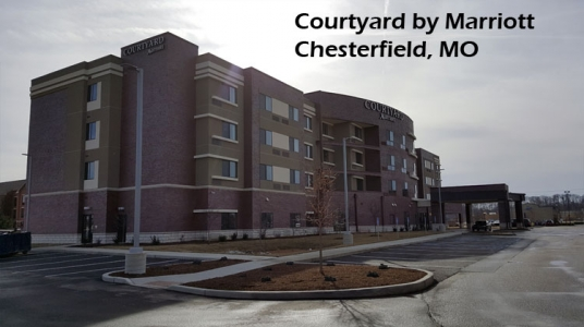 Courtyard by Marriott, Chesterfield, MO completed project