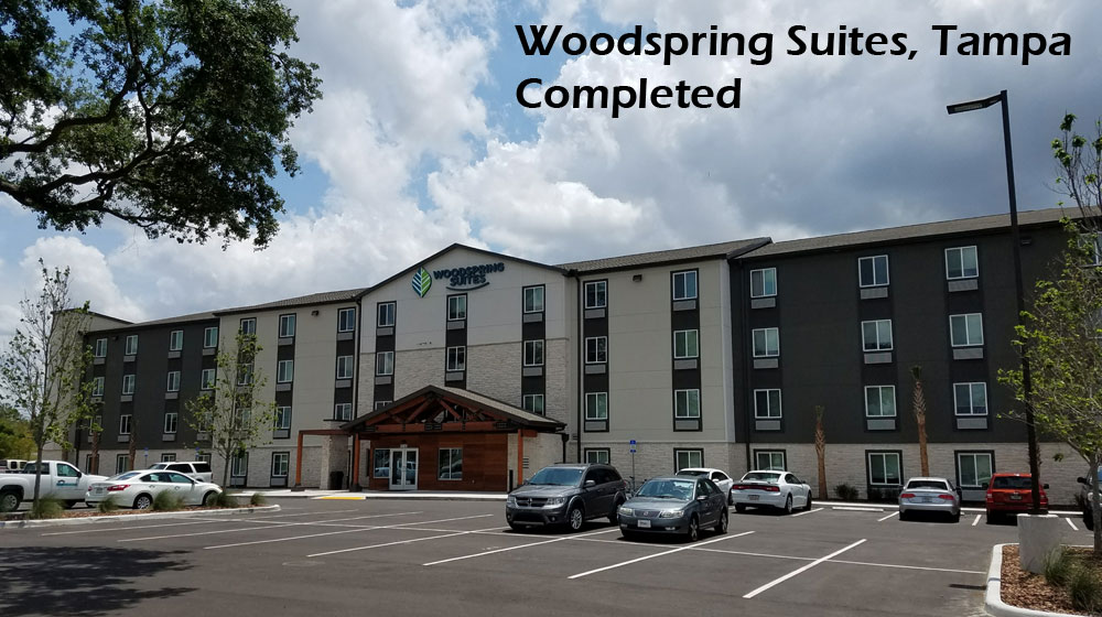 Woodspring Suites completed construction
