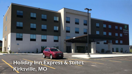 Holiday Inn Express in Kirksville - construction complete
