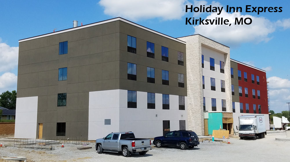 Holiday Inn Express in Kirksville, MO nearing completion of construction.